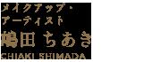 メイクアップ・ アーティスト 嶋田 ちあき CHIAKI SHIMADA